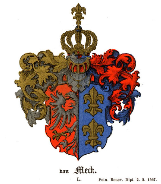 Герб фон Мекк  coat of arms von Meck wappen